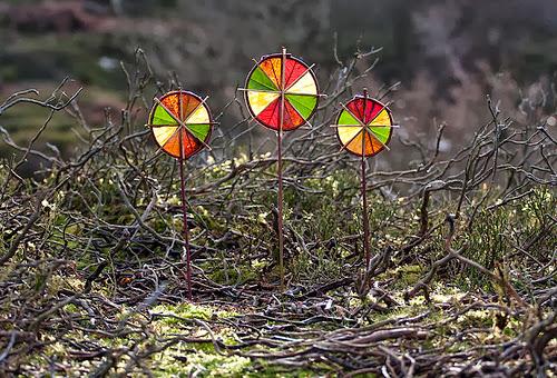3 Winter Sun Wheels (Richard Schilling Land Art)