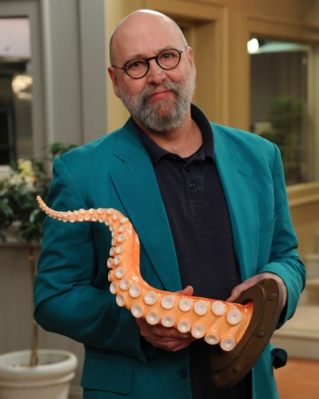 David Cramer with his twisty wall-mountable octopus tentacle w/ porthole - http://www.etsy.com/shop/ArtAkimbo