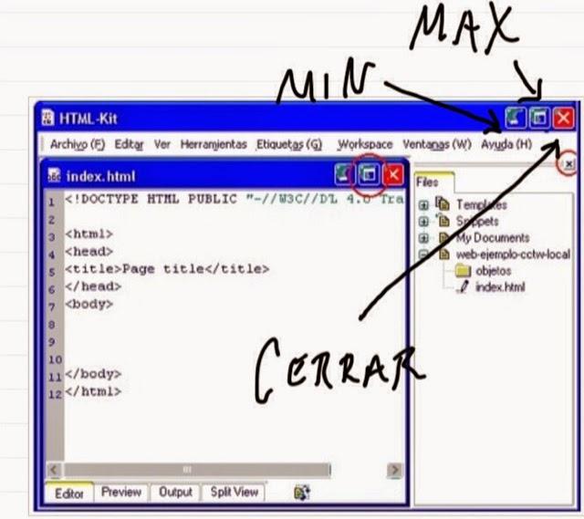 Curso básico de Informática: las ventanas