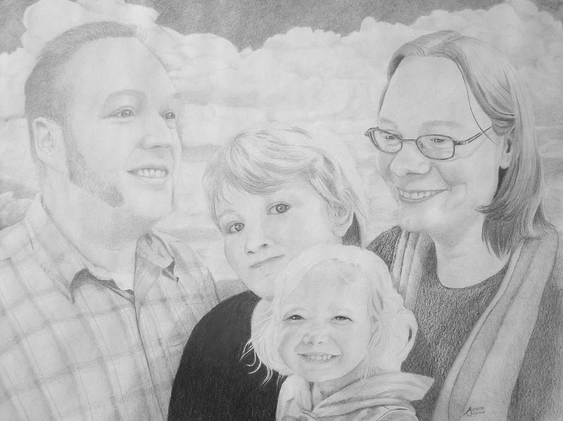 Anderson Family 2011 - Original Painting
