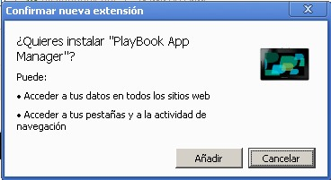 Añadir PlayBook App Manager