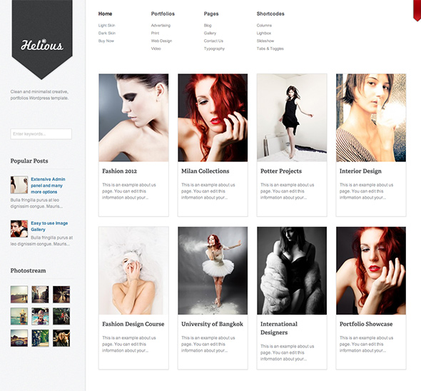 Helious Grid Based WordPress Theme
