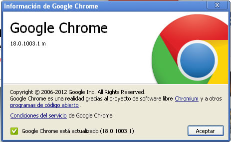Google Chrome 18 Dev