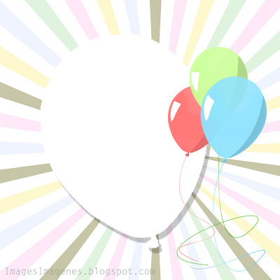 Invitación para fiesta con globos.