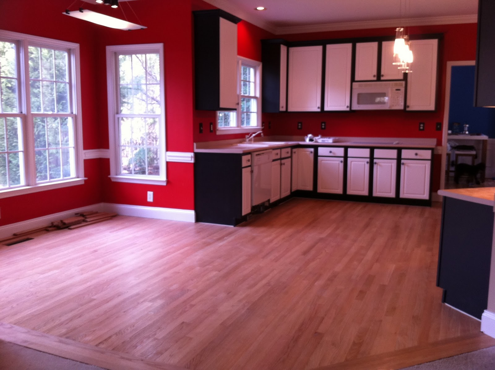 Dark Kitchen Cabinets Red Walls Quicuacom