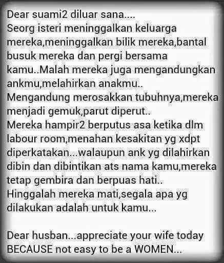 Appreciate your wife!