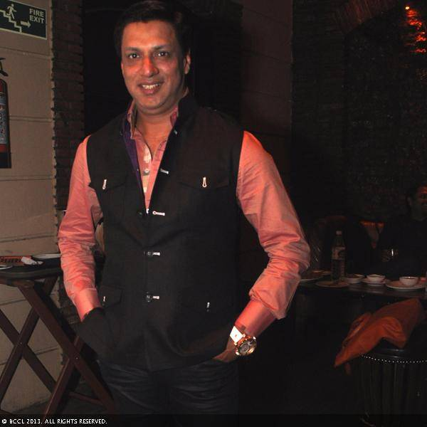 Bollywood filmmaker Madhur Bhandarkar during Vani Tripathi's birthday bash, held in Delhi.