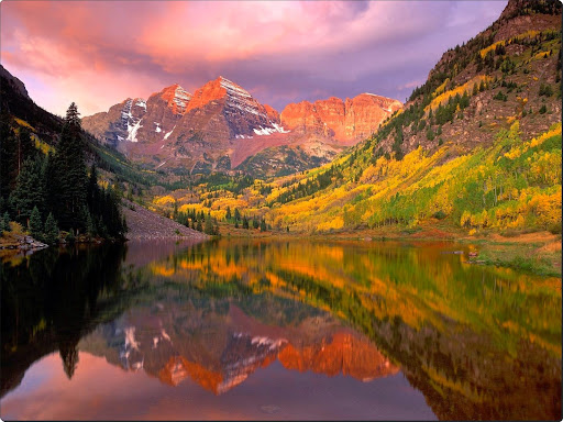 Maroon Bells at Sunrise, Aspen, Colorado.jpg