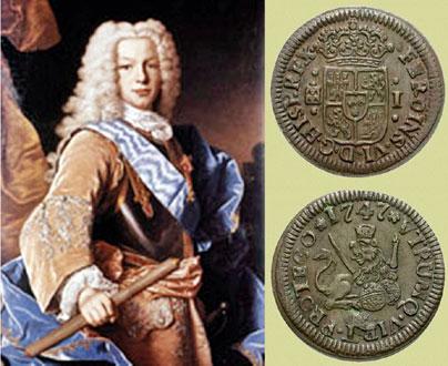 Felipe V - Medio Real 1726