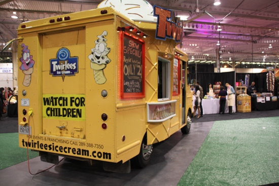 The Twirlees Truck moves indoors for the Delicious Food Show.