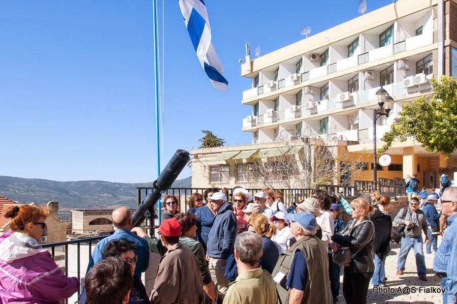 Площадь у Давидки. Экскурсия в Цфате. Верхняя Галилея. Гид в Израиле Светлана Фиалкова.