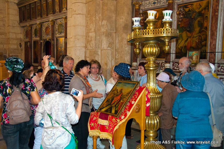 Экскурсия Светланы Фиалковой в Церкви Георгия Победоносца в Лоде.