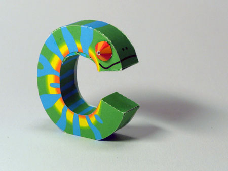 Digitprop Alphabet Papercraft