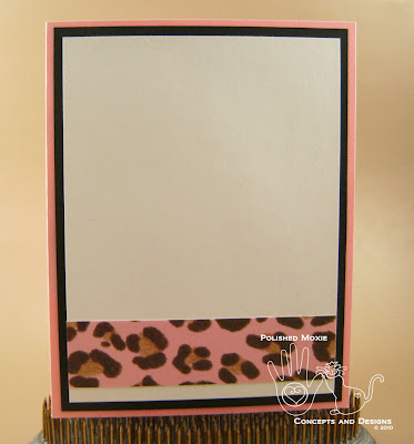 Picture of the inside of the pink leopard card