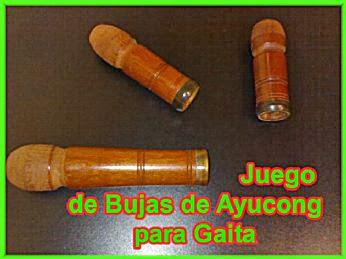 VENDO un JUEGO de ACCESORIOS (Bujas) para GAITA.Madera
