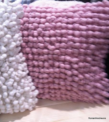 noppen kissen in 3 farben grau braun wei rosa mit f llung ebay. Black Bedroom Furniture Sets. Home Design Ideas