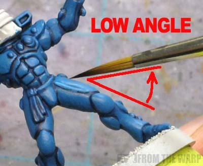 warhammer 40k proper paintbrush painting angle