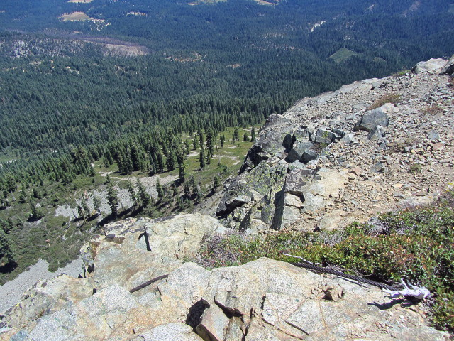 some of the cliff on the side of Spanish Peak