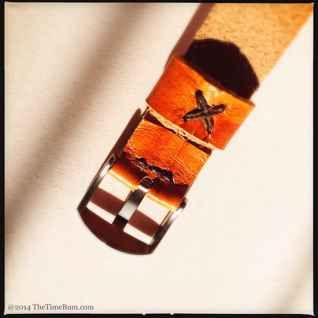 Eakin Street Studio leather NATO watch strap