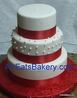 Red And White Wedding Cakes 43 Fabulous Romantic four tier round