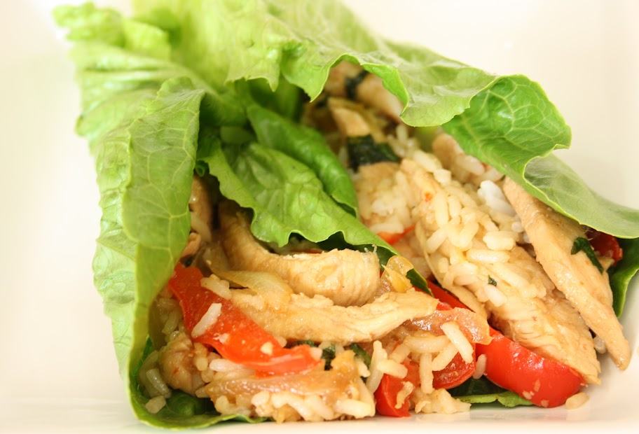 Progressive Picnic: Thai Basil Chicken Lettuce Wraps