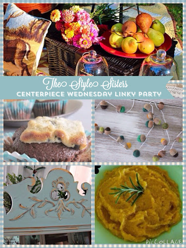 Centerpiece Wednesday Linky party, The Style Sisters