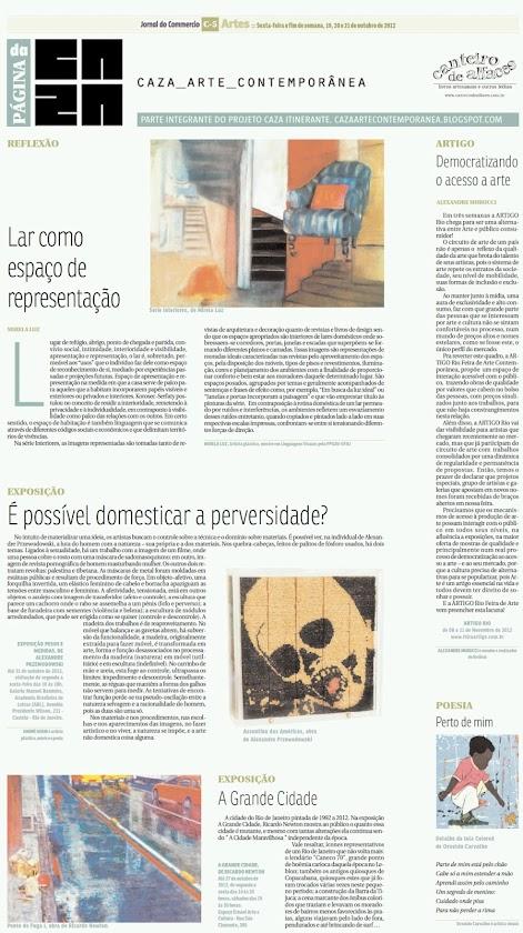 Página da Caza - 19 de Outubro de 2012