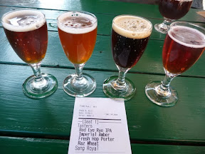 Tasters at Cascade Brewing, specializing in sour beers