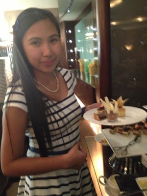 Me having desserts at Petals Restaurant, Rose Rayhaan by Rotana