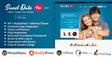 Sweet Date BuddyPress theme