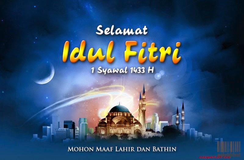 kartu ucapan lebaran idul fitri 1433 h by rizkikhaizir d57sety - Eid Ul Fitr 2014: Greeting, Cards And SMS