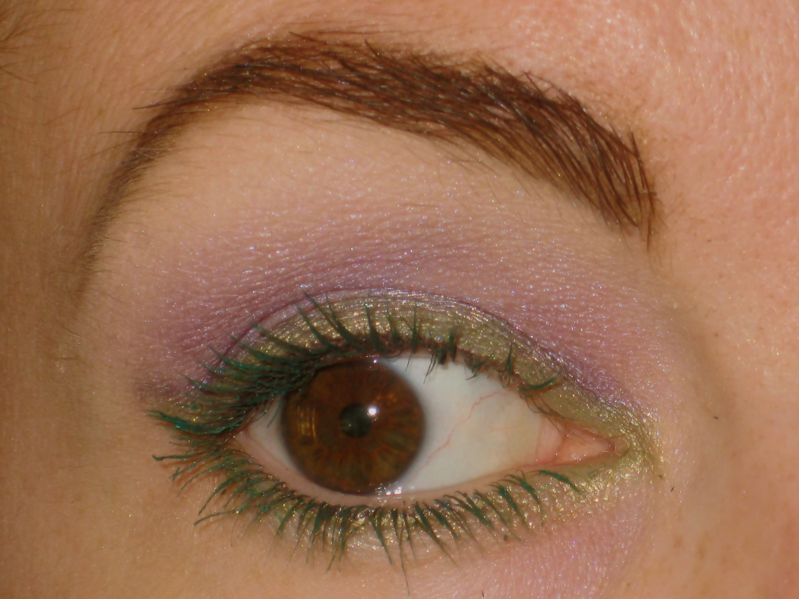 1559bd6e5fd Close up view of my flower power look. My lavender lids (petals) with my