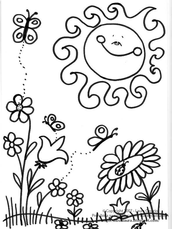 Marzo Primavera Para Colorear Imagui