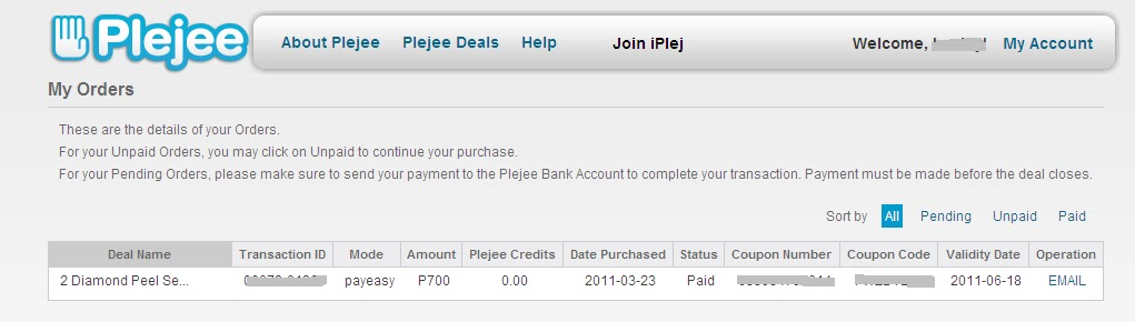 Plejee Com Proof Of Purchase Group Vouchers Philippines