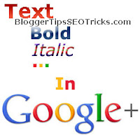 bold italic strikethrough text in google plus