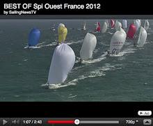 J80 sailing Spi Ouest France