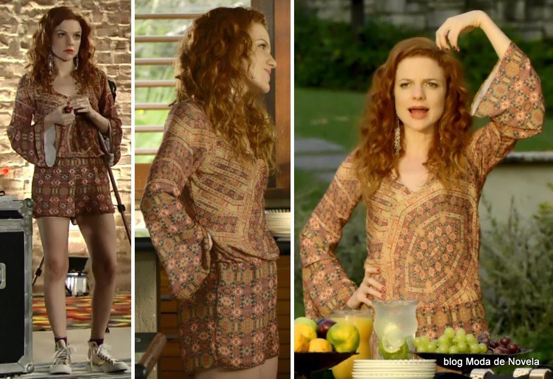 moda da novela Em Família - look da Vanessa dia 30 de junho