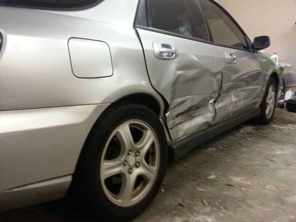 Jody's totalled Subaru