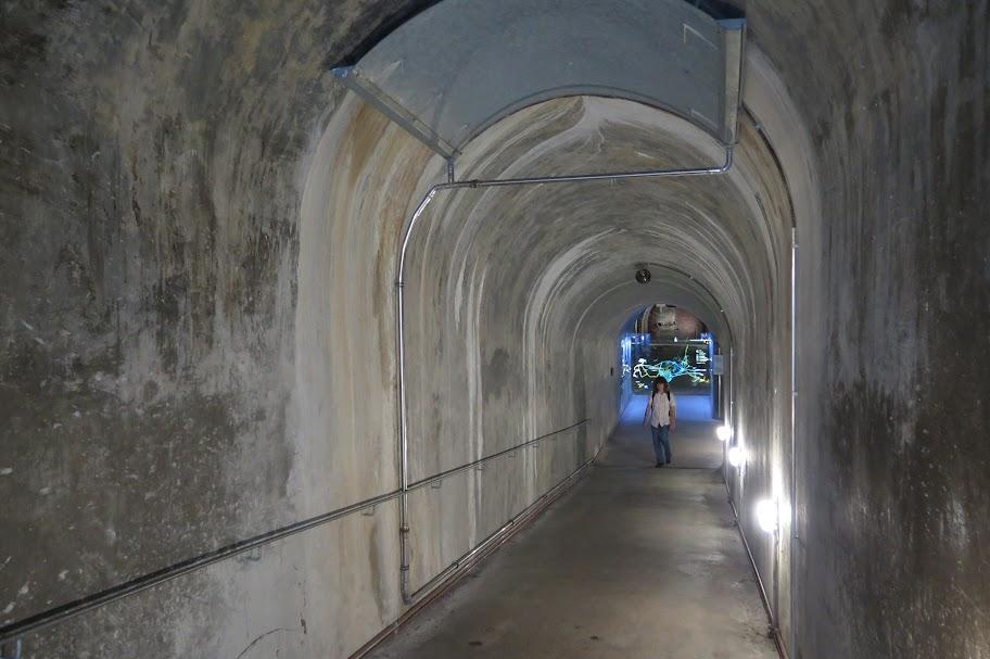 Eingang in den Bunker vom Dokumentationszentrum