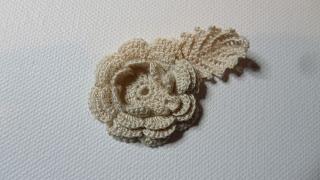 Irish Crochet Rose medallion. Traditional thread crochet