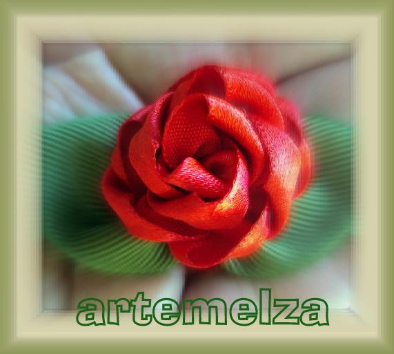artemelza - rosa aberta de cetim