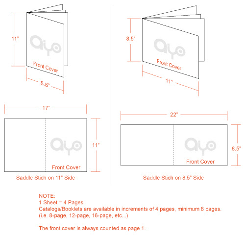 AIYOPRINT - Catalog / Booklet Dimensions and Printing Specs