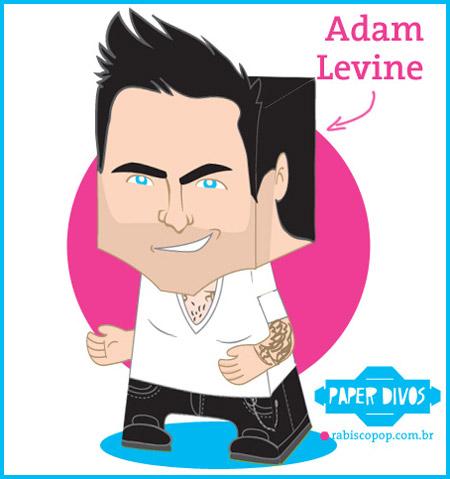 Adam Levine Papercraft