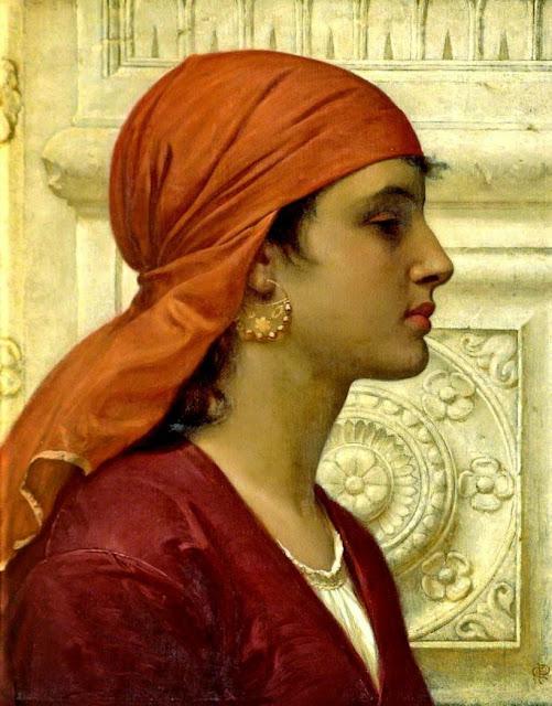 Charles Edward Perugini - A Capri Girl