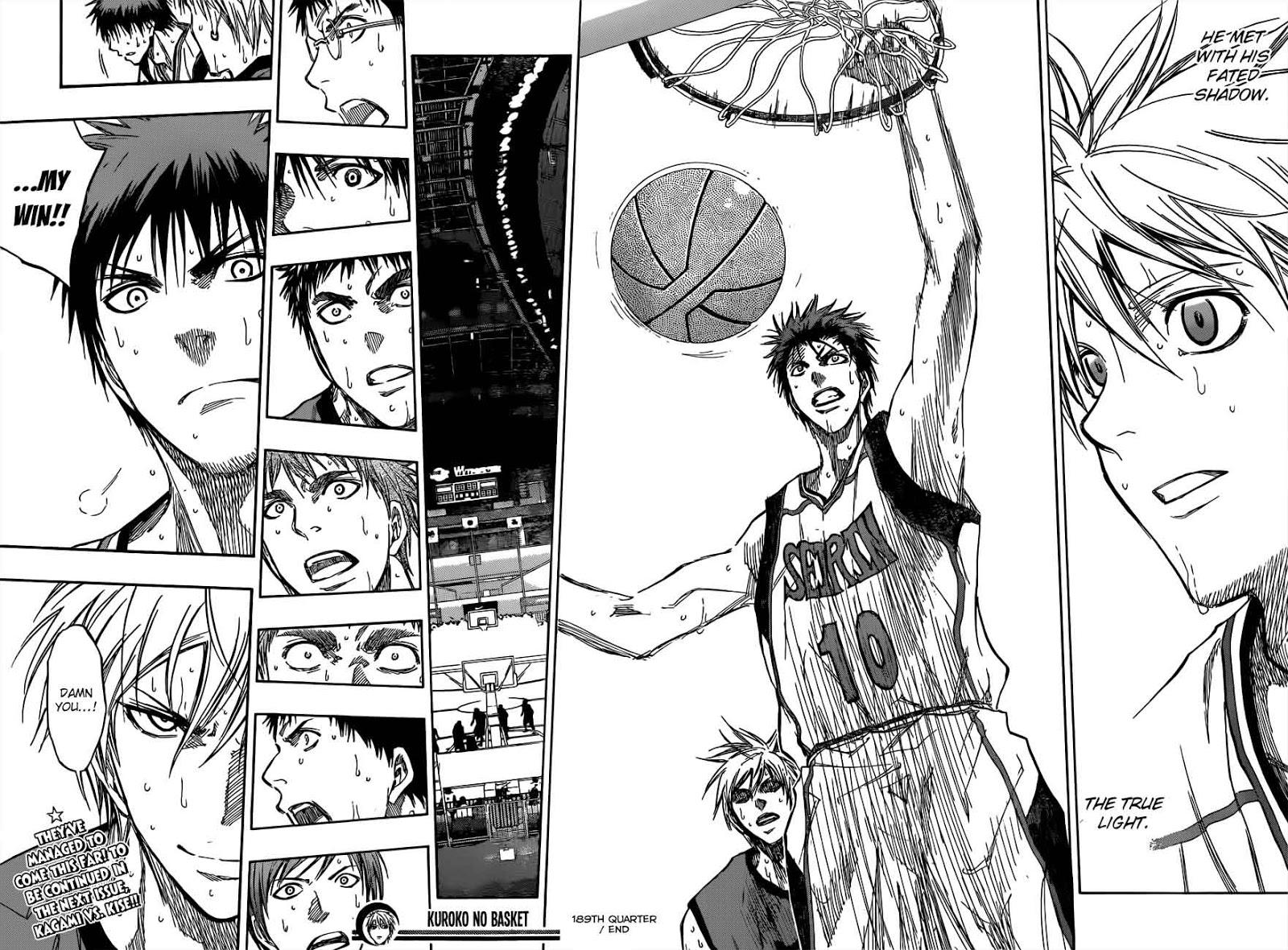 Kuroko no Basket Manga Chapter 189 - Image 18-19