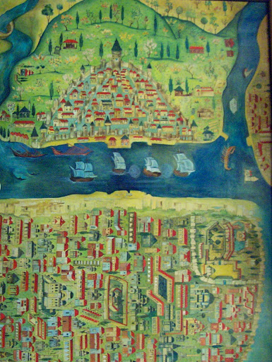 Antiguo mapa de Estambul