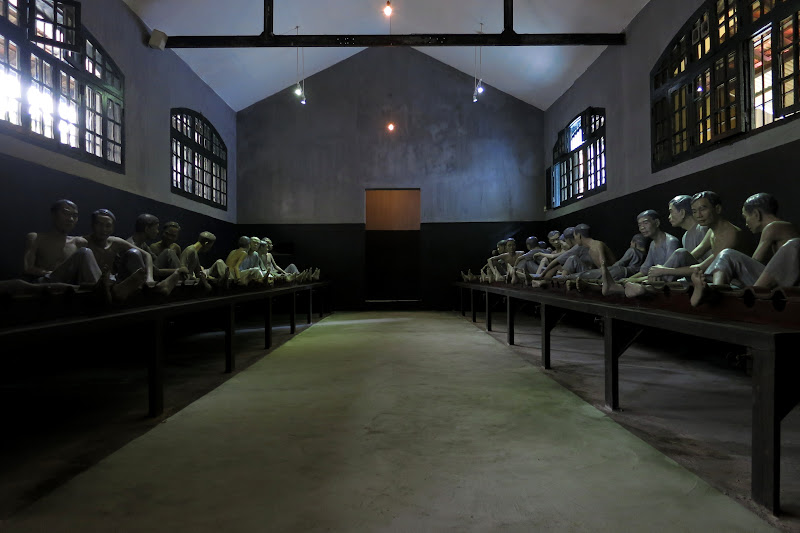 Sculptures depicting Vietnamese imprisoned by the French at Hoa Lo Prison (the Hanoi Hilton)