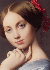 ingres, louise, countess, 1845, face, amused, young women, portrait, hand