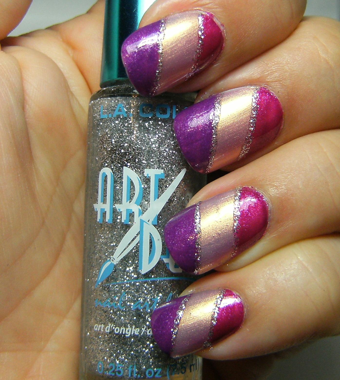 Deez Nailz: klean color nail duos stripes