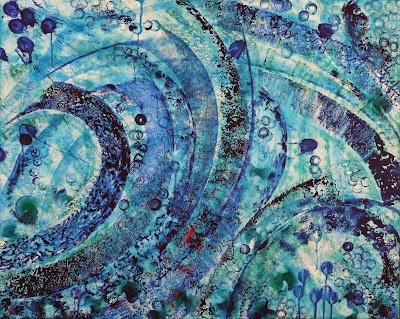 Deep Oceans Acrylic on Canvas 120x150cm